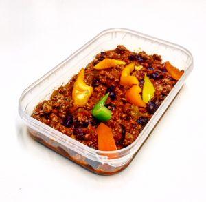 Chilli Con Carne in meal prep tray