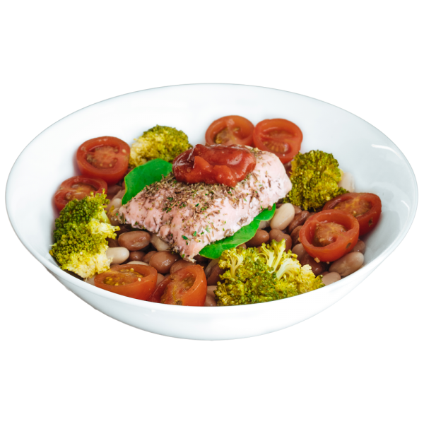 diet food - Grilled Salmon With Tomato Salsa