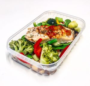 Salmon Light Lunch in container