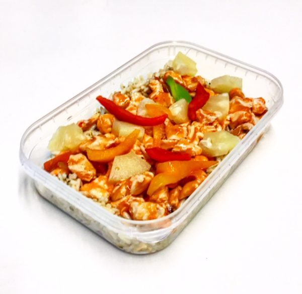 Sweet & Sour Chicken in meal container