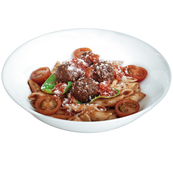 Tomato Quorn Meatballs with Penne Pasta - diet food lunches