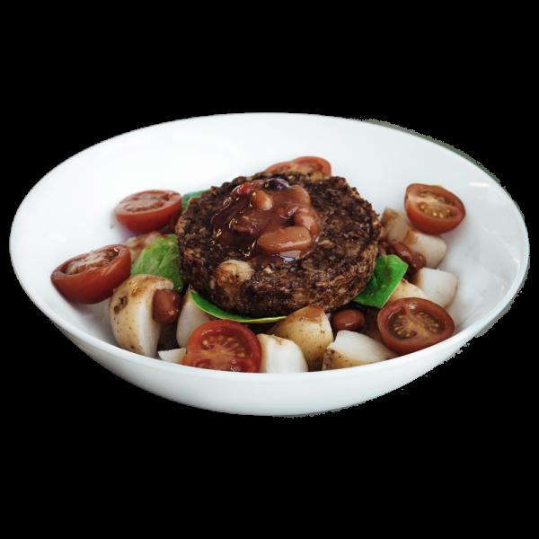 diet meal - Spiced Veggie Mozzarella Burger