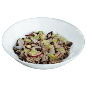 Mushroom Risotto with Leeks & Radish diet food dinners