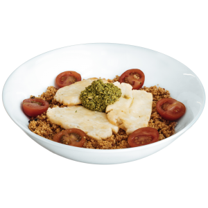 diet food delivery - Baked Halloumi With Green Pesto
