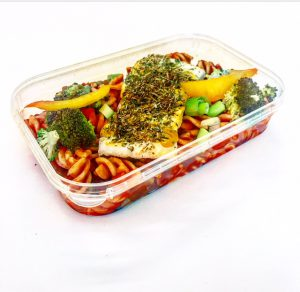 Haddock Fillet With Herb Crust in meal container