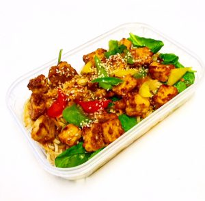 Healthy Quorn Satay in meal container
