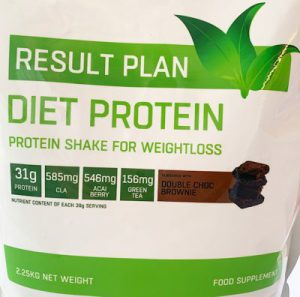 Result Plan Double Chocolate Brownie Protein Shake for weightloss