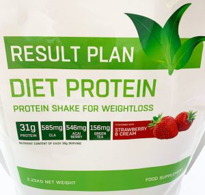 Result Plan strawberries and cream flavoured diet protein