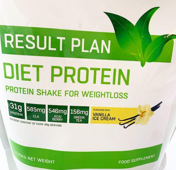 Result Plan diet vanilla ice cream flavoured diet protein