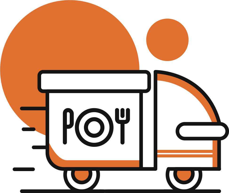 Graphic of diet meal delivery van